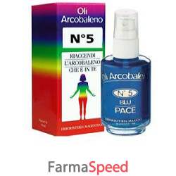 olio arcobaleno 5 colore blu capienza 50ml