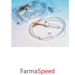 set flebo sterile per infusione in materiale anallergico con para e roller