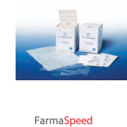 guanto in polietilene elasticcizato su supporto di carta. ottima sensibilita' e protezione totale