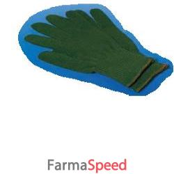 guanto in puro cotone misura 8,5 in filo verde traspirante ed assorbente 50 pezzi