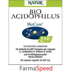 bio acidophilus 20 capsule vegetali 363 mg