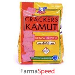 fsc crackers artigianali di kamut senza lievito bio ad alto contenuto di fibre 250 g
