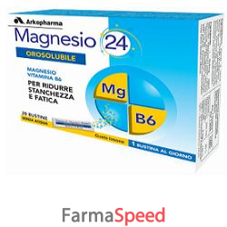 magnesio 24 orosolubile 20 bustine