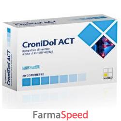 cronidol act 20 compresse astuccio 19 g
