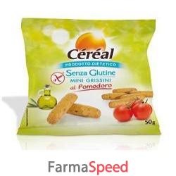cereal senza glutine minigrissini al pomodoro 50 g
