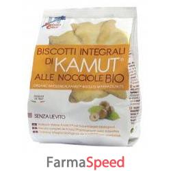 fsc biscotti integrali di kamut alle nocciole senza lievito bio ad alto contenuto di fibre 250 g