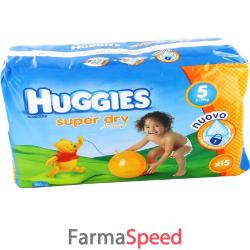 huggies superdry 5 11/19 kg 15 pezzi