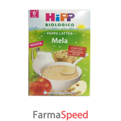 hipp biologico pappa lattea mela 250 g