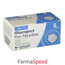 ago per penna da insulina glucoject lunghezza 8 mm gauge 31 100 pezzi