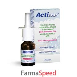 actimar soluzione nasale spray salina 3% con acido ialuronico