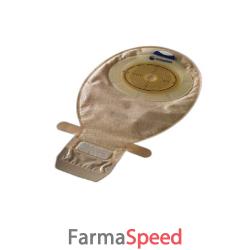 sacca per ileostomia con hide/away aperta trasparente ritagliabile con velcro 10/66mm misura midi 420ml