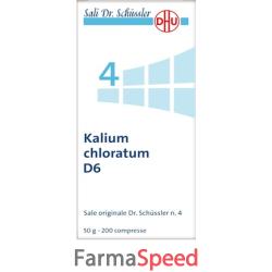 kalium chloratum 4 schuss 6 dh 50 g
