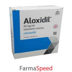 aloxidil - 20 mg/ml soluzione cutanea 3 flaconi in vetro da 60 ml