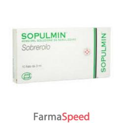 sopulmin - 40 mg/3 ml soluzione da nebulizzare 10 fiale 3 ml