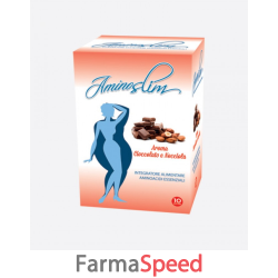aminoslim cioccolato/nocciola 10 bustine 180 g
