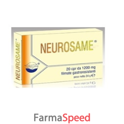 neurosame 20 compresse 1200 mg filmate gastroresistenti 24 g