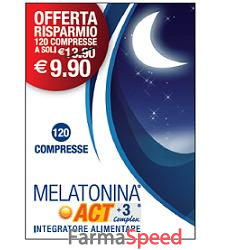 MELATONINA ACT 1MG +3 COMPLEX 120 COMPRESSE 18 G e8277ead956c