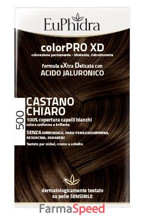 euphidra colorpro xd 500 cast chiaro gel colorante capelli in flacone +  attivante + balsamo + guanti c8ac5b61fefd