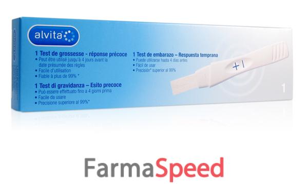 Alvita test di gravidanza precoce 1 pezzo for Test d gravidanza